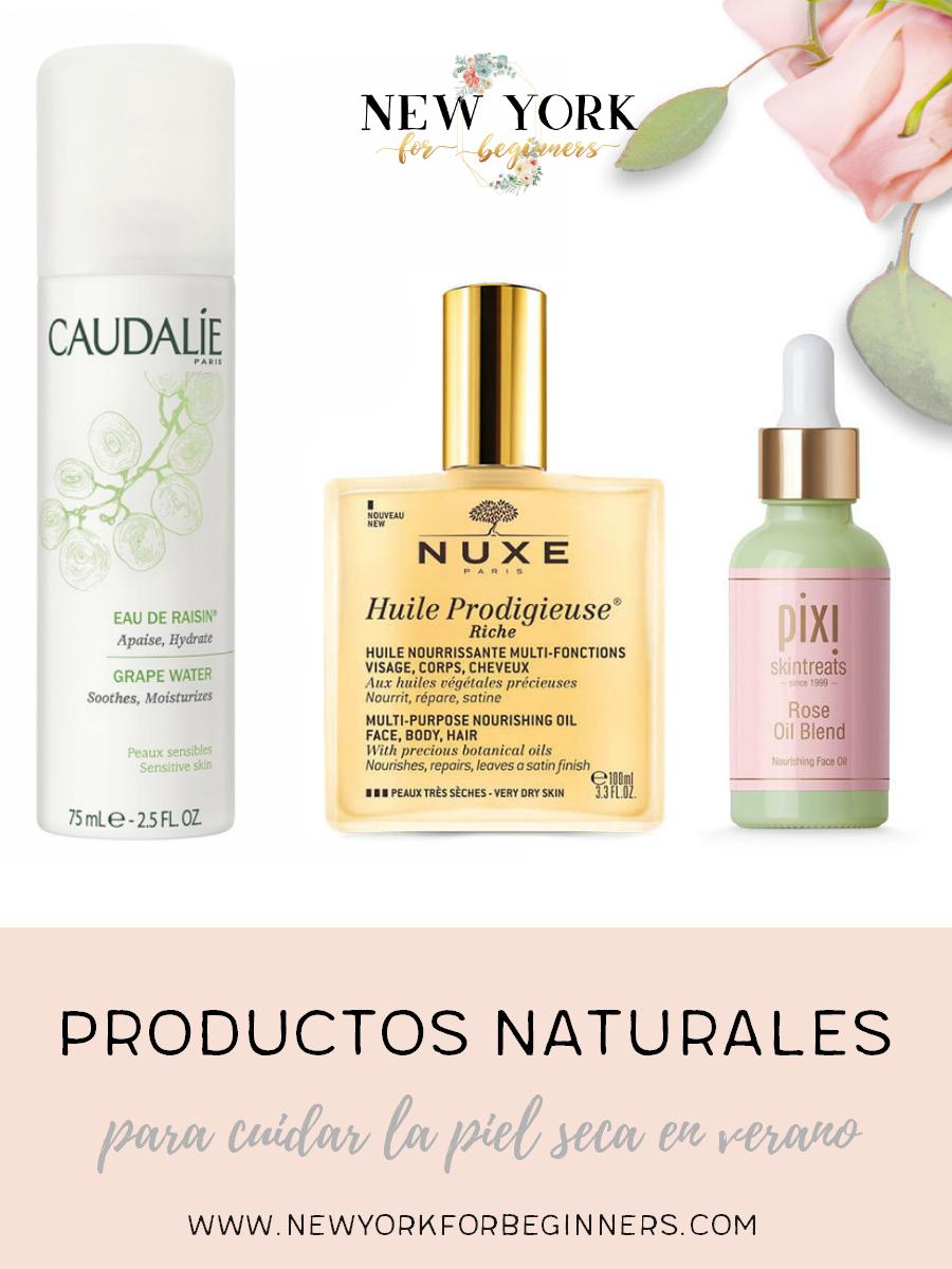 Productos naturales para cuidar la piel seca en verano
