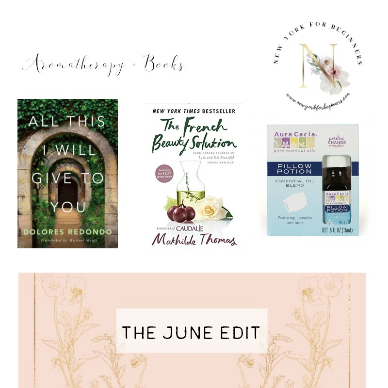 The June Edit aromatherapy and books