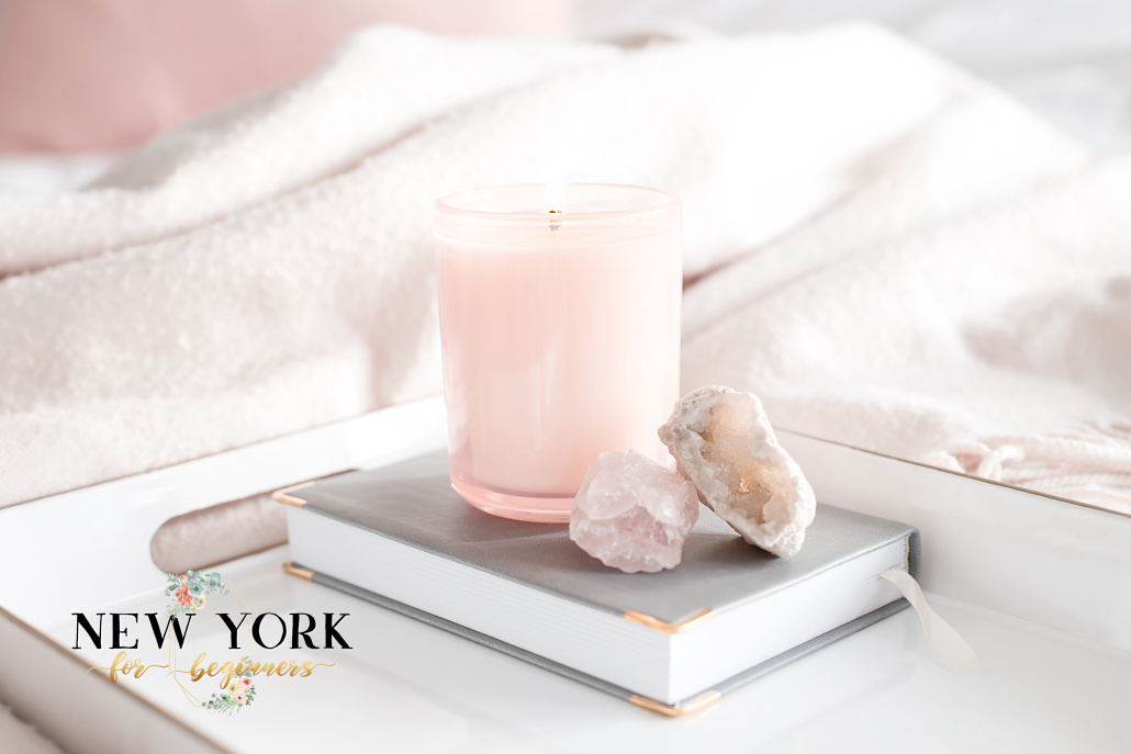Relax with essential oils and candle