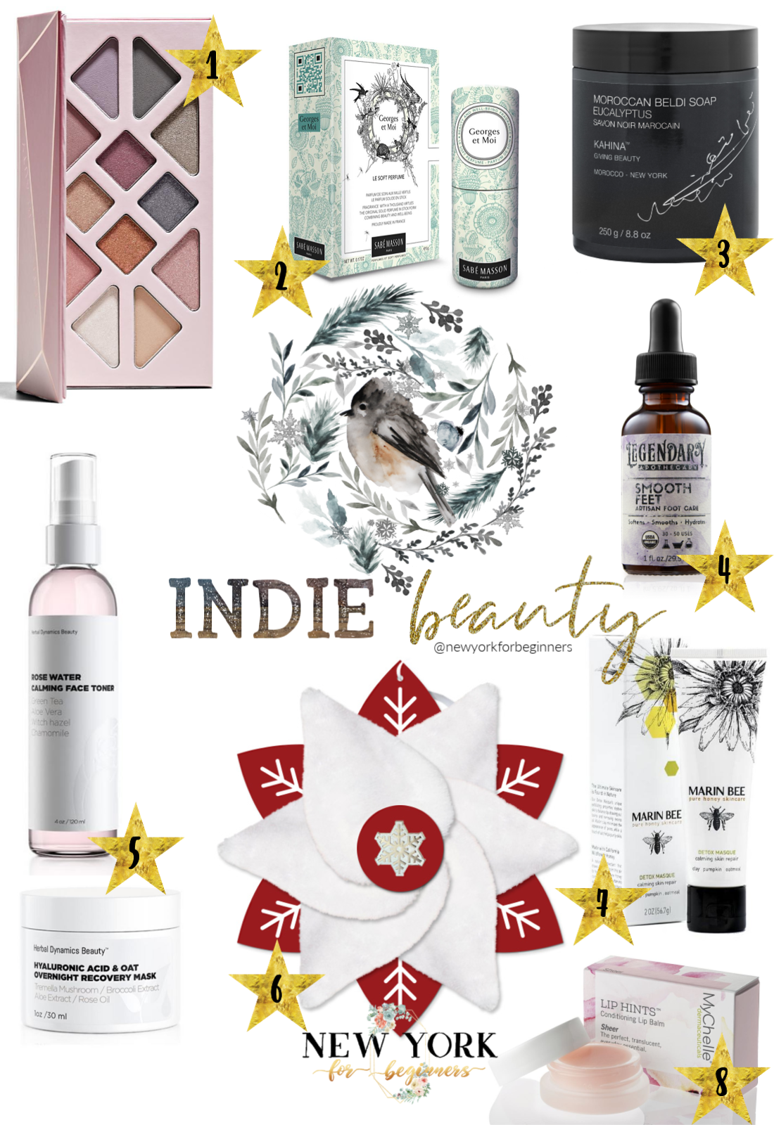 Indie Beauty a holiday gift guide with niche gifts from the Indie Beauty Expo