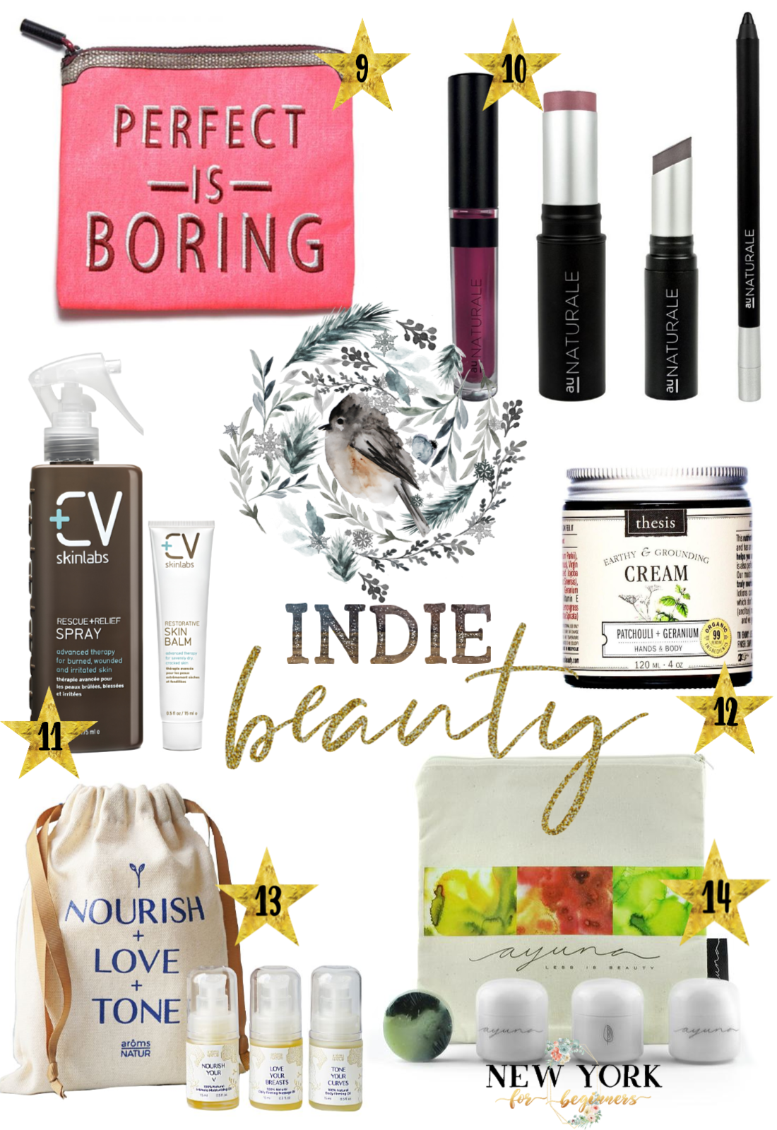 Indie Beauty Holiday Gifts with six niche beauty picks