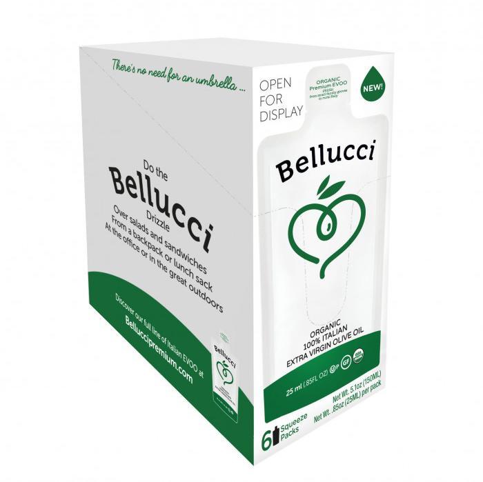 Bellucci organic olive oil squeeze pack