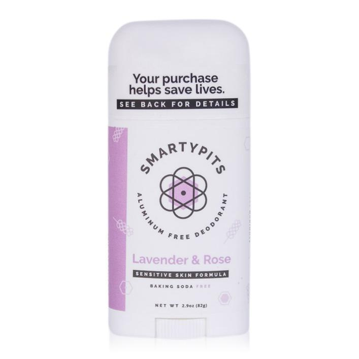 smarty pits natural deodorant in lavender rose