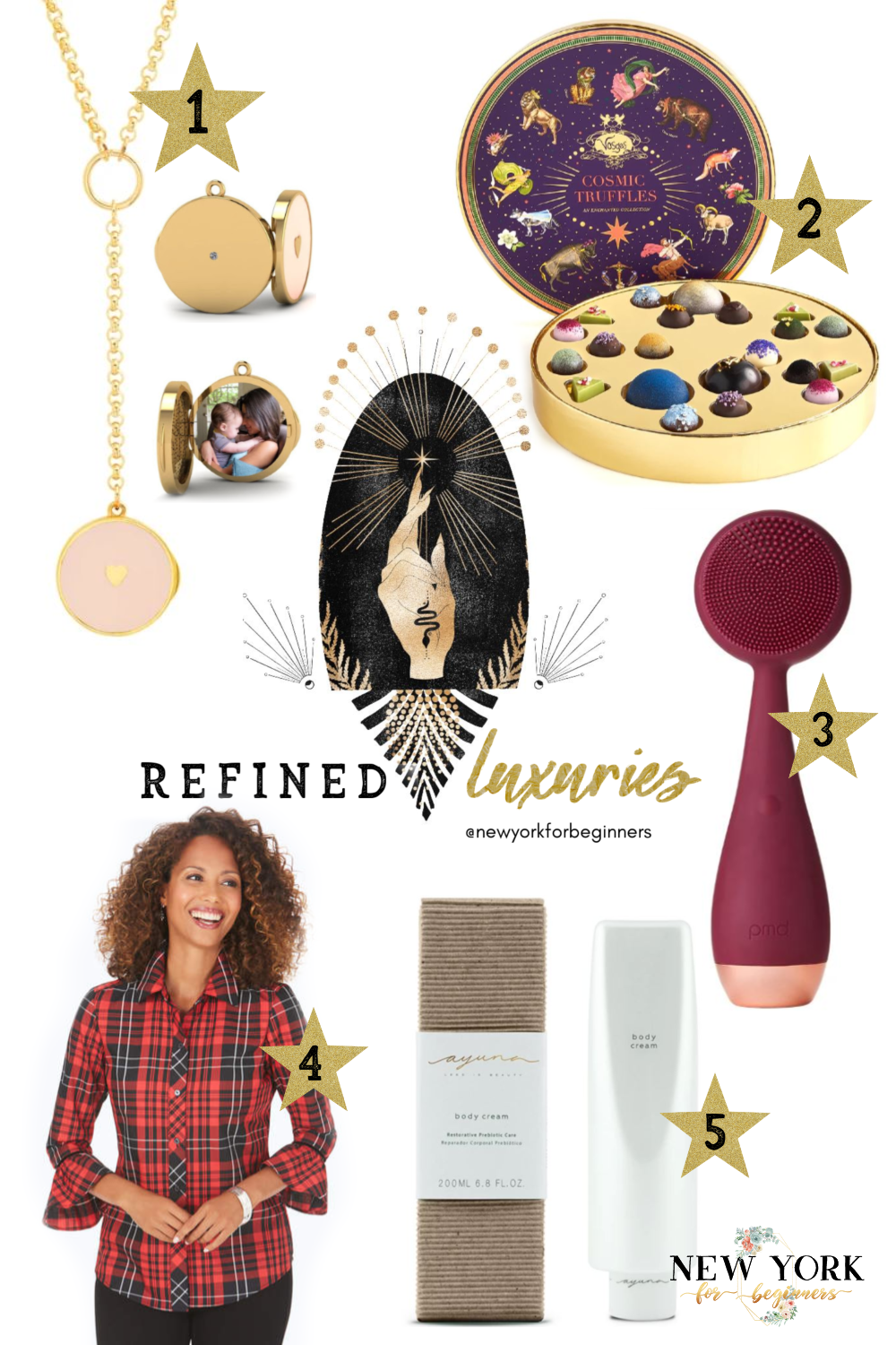 holiday gift guide with refined gifts