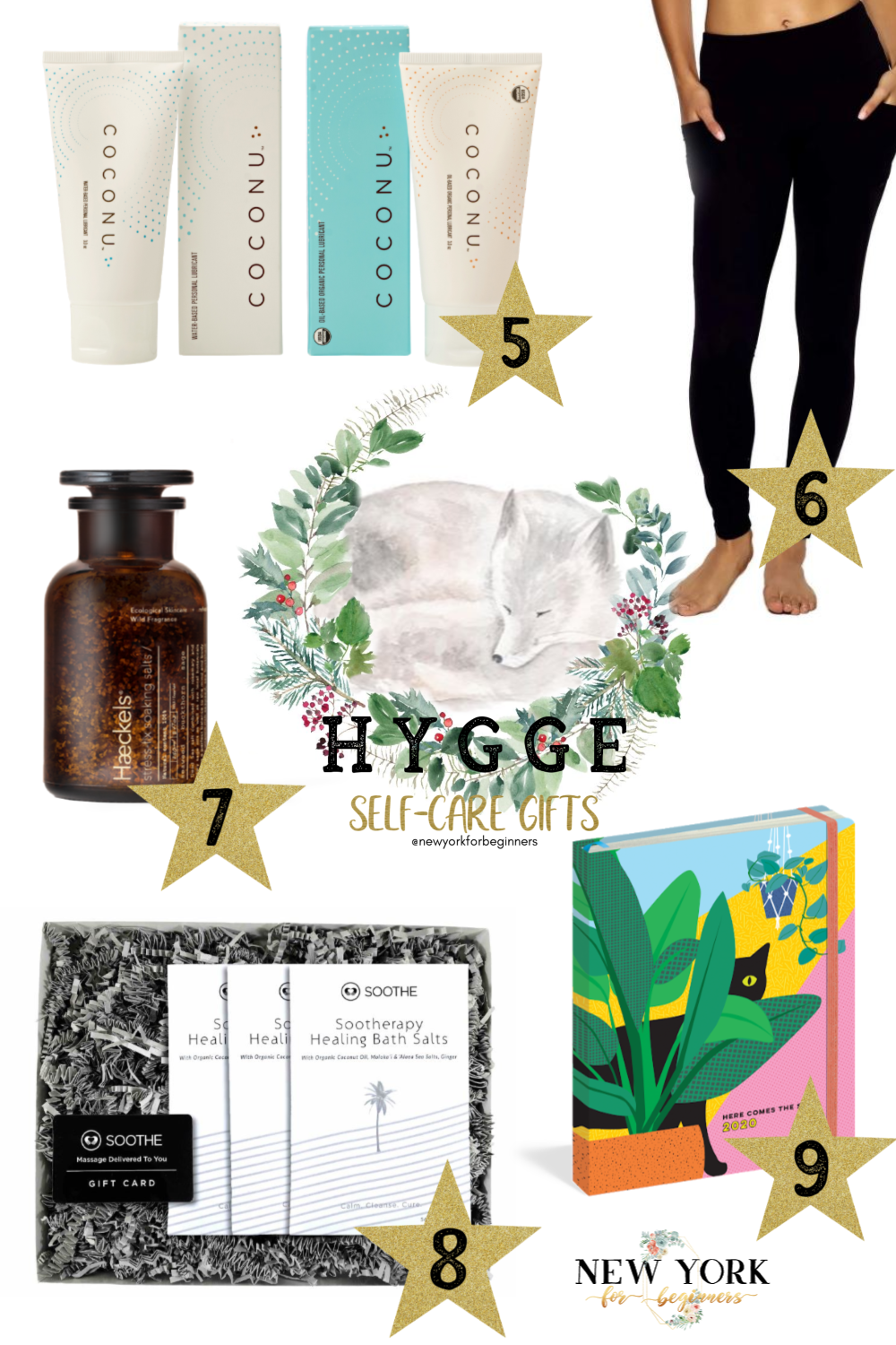 Selection of meaningful hygge gifts for the holidays