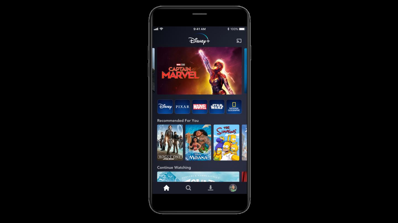 App móvil de Disney+