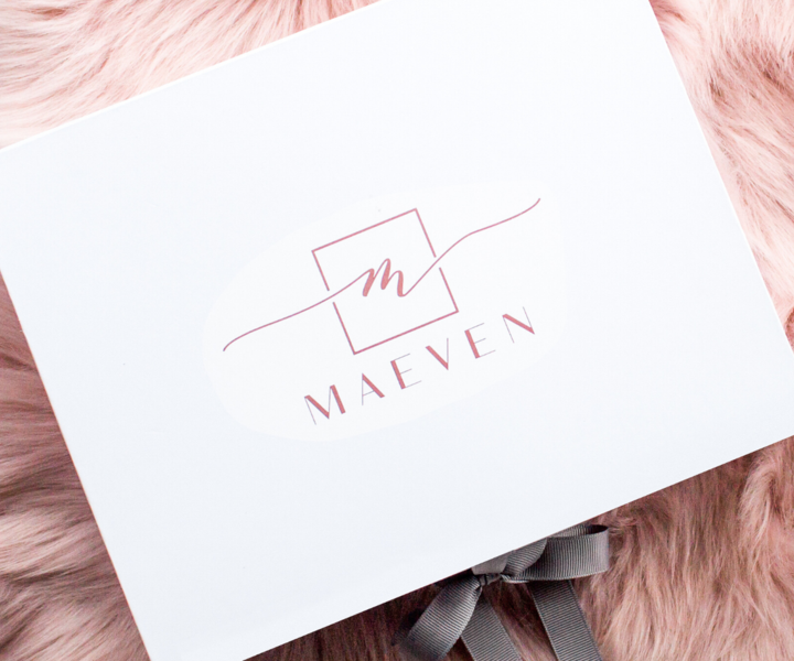 maeven bridal subscription box on a pink background